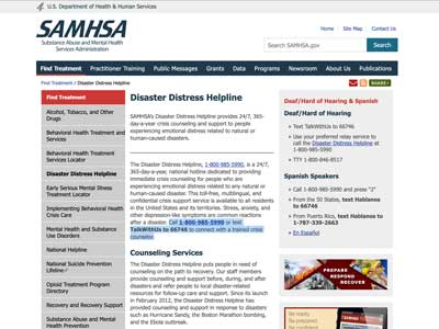 image of the SAMHA Website