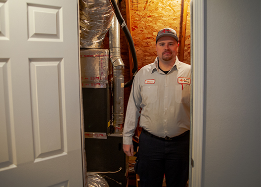 Tulsa Tech graduate Shawn Schubert tackles a cool new career in the world of heating and air.